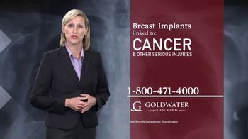 Goldwater Law Firm TV Spot, 'Breast Implants' - Thumbnail 3