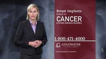 Goldwater Law Firm TV Spot, 'Breast Implants' - Thumbnail 4