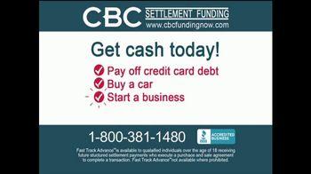 CBC Settlement Funding TV Spot, 'Get Cash Today!'