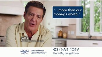 First American Home Warranty Plan TV Spot, 'Appliance Breakdowns'