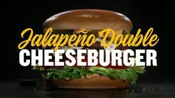 Carl's Jr. Jalapeño Double Cheeseburger TV Spot, 'Double Meat, Double Heat' - Thumbnail 7