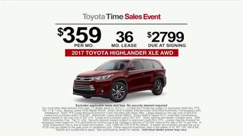 Toyota Time Sales Event TV Spot, 'Sienna or Highlander' [T2] - Thumbnail 9