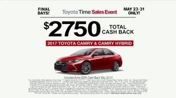 Toyota Time Sales Event TV Spot, 'NASCAR: Camry Cash' Feat. Denny Hamlin [T2] - Thumbnail 7