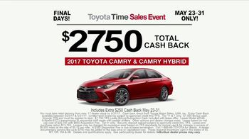 Toyota Time Sales Event TV Spot, 'NASCAR: Camry Cash' Feat. Denny Hamlin [T2] - Thumbnail 8