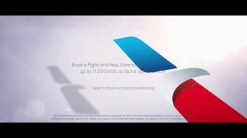 American Airlines TV Spot, 'Stand Up 2 Cancer: Donate' Feat. Bradley Cooper - Thumbnail 9