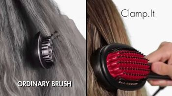 Clamp.It Ceramic Styling Brush TV Spot, 'A Better Way to Straighten Hair'