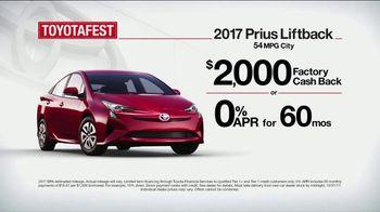 Toyota Toyotafest TV Spot, '2017 Prius Liftback: Long Lasting' [T2] - Thumbnail 3