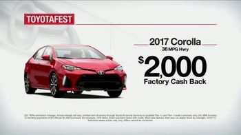 Toyota Toyotafest TV Spot, 'Find the Best Fit: 2017 Corolla' [T2] - Thumbnail 5