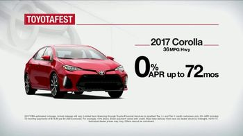 Toyota Toyotafest TV Spot, 'Find the Best Fit: 2017 Corolla' [T2] - Thumbnail 6