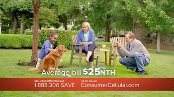 Consumer Cellular TV Spot, 'Porch: Plans $15 a Month' - 266 commercial airings