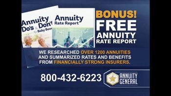 Annuity General TV Spot, 'Maximize Retirement Income'