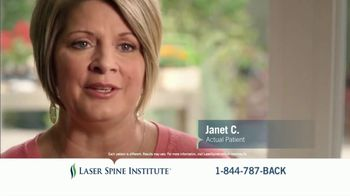 Laser Spine Institute TV Spot, \'Janet\'