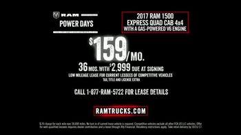 Ram Trucks Power Days TV Spot, 'Get Your 2017 Ram 1500' [T2] - Thumbnail 6