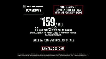 Ram Trucks Power Days TV Spot, 'Get Your 2017 Ram 1500' [T2] - Thumbnail 4