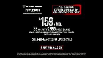 Ram Trucks Power Days TV Spot, 'Get Your 2017 Ram 1500' [T2] - Thumbnail 5