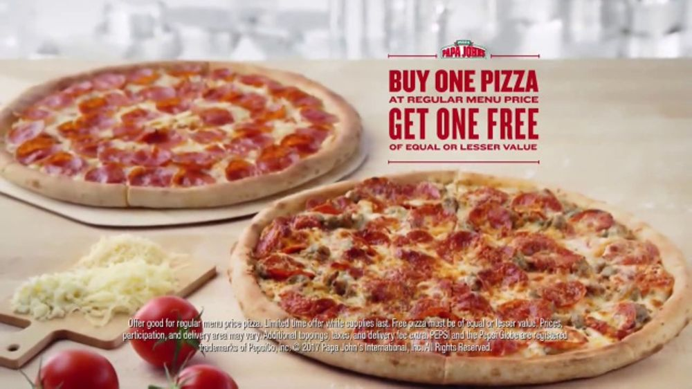 Papa John S Tv Commercial Buy One Get One Video