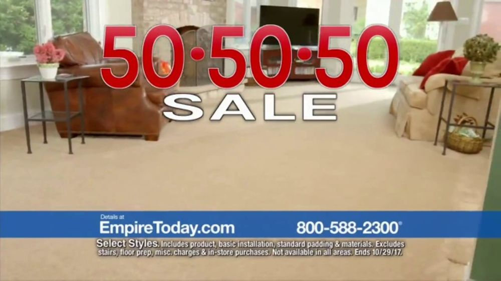 empire today 50 50 50 sale tv commercial biggest sale ispot tv
