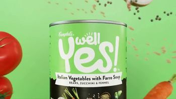 Campbell's Well Yes! Italian Vegetables with Farro Soup TV Spot, 'Goodness' - 2833 commercial airings