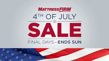 Mattress Firm 4th of July Sale TV Spot, 'Final Days: Free Adjustable Base' - Thumbnail 7