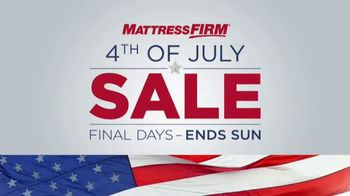 Mattress Firm 4th of July Sale TV Spot, 'Final Days: Free Adjustable Base' - Thumbnail 1