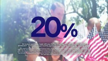 Ashley HomeStore Stars & Stripes One Day Sale TV Spot, 'Sofas & Queen Beds' - Thumbnail 3