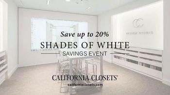 California Closets Shades of White Savings Event TV Spot, 'Consultation'