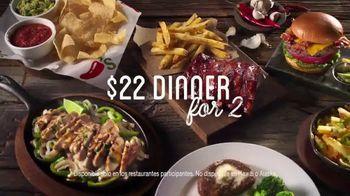 Chili's $22 Dinner for 2 TV Spot, 'Diviértete' [Spanish] - 1436 commercial airings