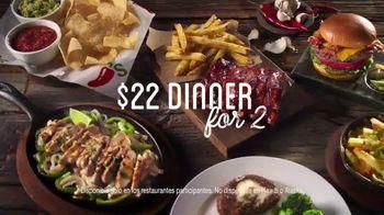 Chili's $22 Dinner for 2 TV Spot, 'Diviértete' [Spanish] - 1436 commercial airings