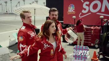 Sonic Drive-In Premium Pretzel Dogs TV Spot, 'NBC Sports Network: The Pits' - Thumbnail 1