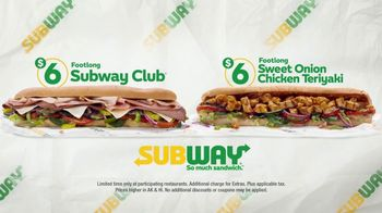 Subway $6 Footlong Subs TV Spot, 'Everyone's Favorite' - Thumbnail 4