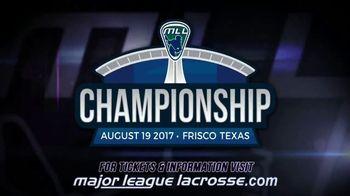 2017 Major League Lacrosse Championship TV Spot, 'Witness History' - Thumbnail 5