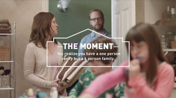 Lowe's TV Spot, 'The Moment: Vanity' - 1448 commercial airings