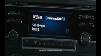 SiriusXM Satellite Radio Free Listening Event TV Spot, 'Push It' - Thumbnail 7