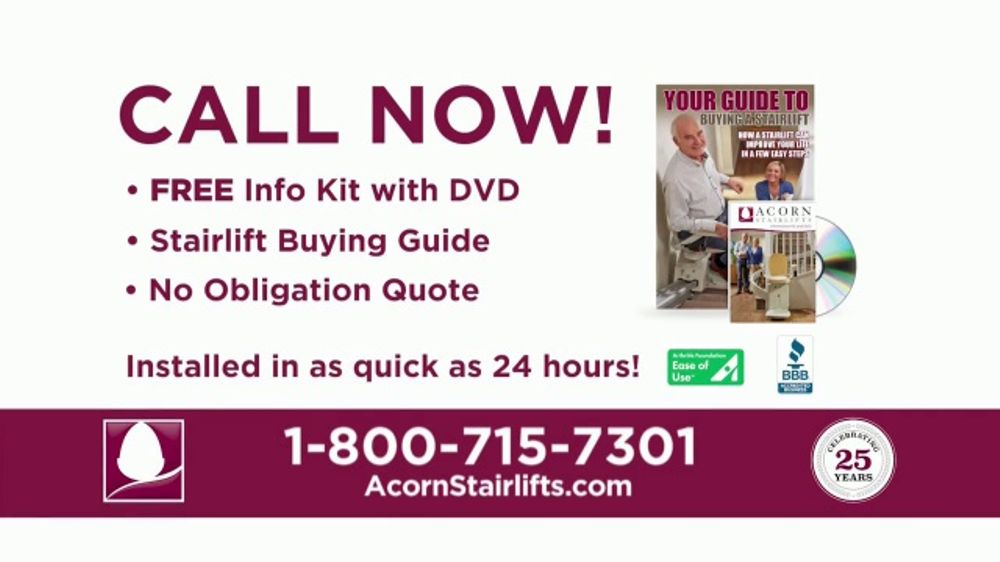Acorn Stairlifts TV Commercial, 'The Perfect Solution'