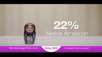MyHeritage DNA TV Spot, 'Thanksgiving $59 November 23'