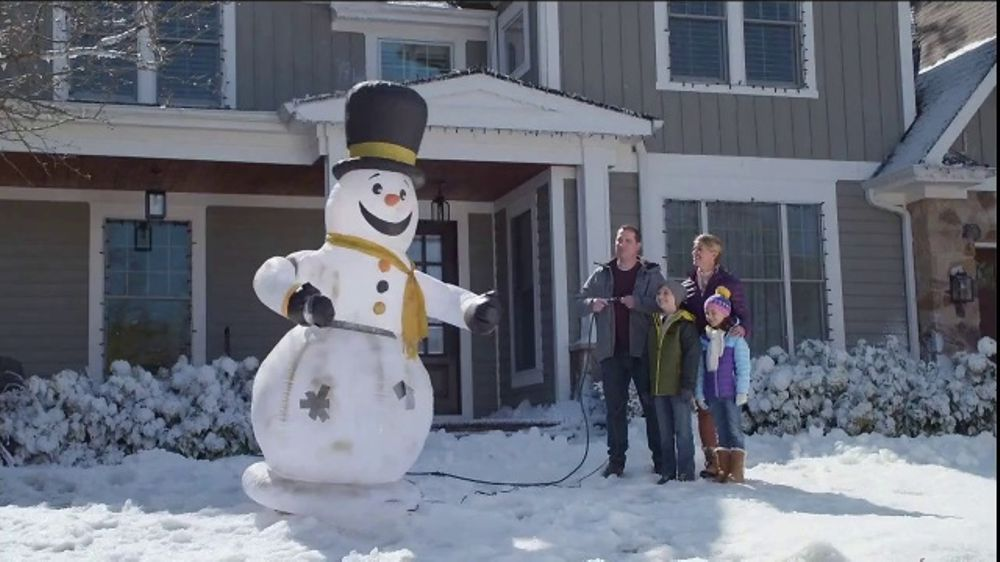 lowes tv commercial snowman inflatable snoopy ispottv - Lowes Blow Up Christmas Decorations