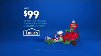 Lowe's TV Spot, 'Snowman: Inflatable Snoopy' - Thumbnail 6