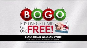 Hand and Stone Black Friday Weekend Event TV Spot, 'BOGO Gift Card'