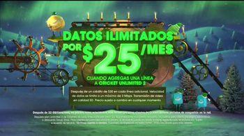 Cricket Wireless Unlimited 2 Plan TV Spot, 'Magia de las fiestas' [Spanish] - Thumbnail 3