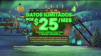 Cricket Wireless Unlimited 2 Plan TV Spot, 'Magia de las fiestas' [Spanish] - Thumbnail 4