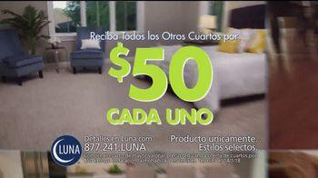 Luna Flooring Venta de Cuartos por $50 TV Spot, 'Cada cuarto' [Spanish]