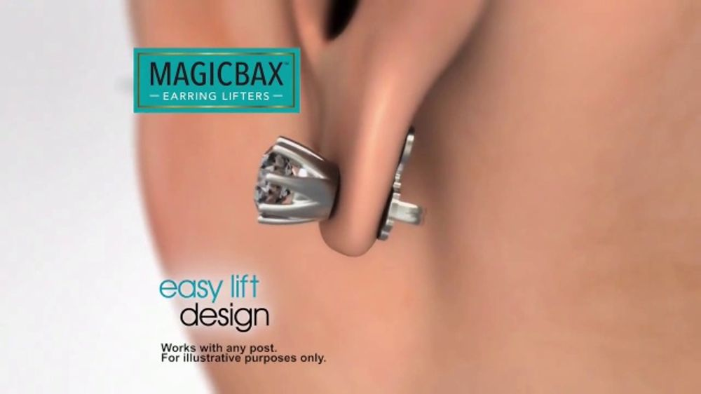 Magicbax Earring Lifters Tv Commercial Secure Earrings