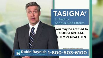 Robin Raynish Law TV Spot, 'TASIGNA Linked to Circulatory Problems' - Thumbnail 5