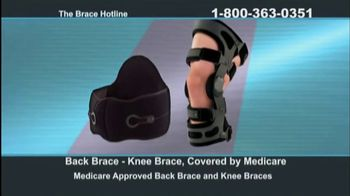 The Brace Hotline TV Spot, 'Medicare-Approved Back Brace or Knee Brace'
