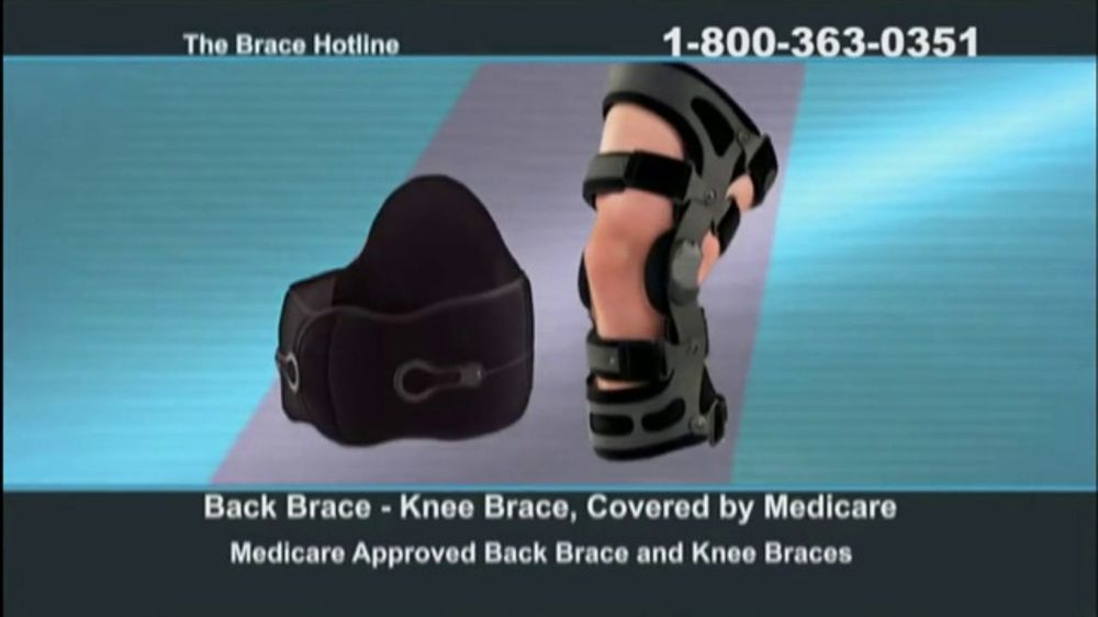 ddbffc1542 The Brace Hotline TV Commercial, 'Medicare-Approved Back Brace or Knee Brace'  - iSpot.tv