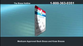 The Brace Hotline TV Spot, 'Medicare-Approved Back Brace or Knee Brace' - Thumbnail 1
