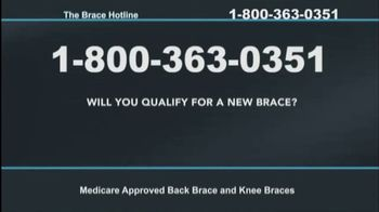 The Brace Hotline TV Spot, 'Medicare-Approved Back Brace or Knee Brace' - Thumbnail 5