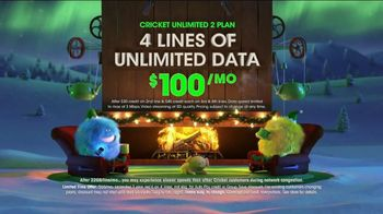 Cricket Wireless Unlimited 2 Plan TV Spot, \'Holiday Magic: LG Fortune\'