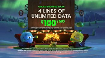 Cricket Wireless Unlimited 2 Plan TV Spot, 'Holiday Magic: LG Fortune' - Thumbnail 4