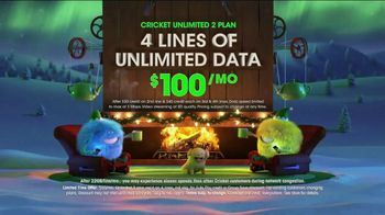 Cricket Wireless Unlimited 2 Plan TV Spot, 'Holiday Magic: LG Fortune' - Thumbnail 5
